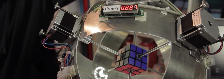 Rubikovu kocku poskladá iba za 0,887 sekundy. Robot Sub1 od nadaného inžiniera má na konte nový rekord