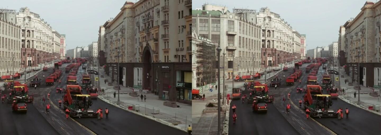Rusové tě naučí, jak se expresně rychle asfaltují silnice. Mohly za to desítky vozidel a 8 tisíc tun asfaltu