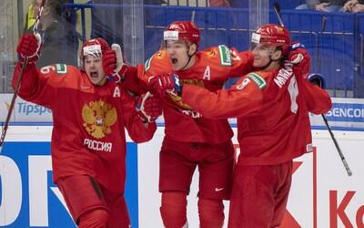 Ruskí fanúšikovia sa tešili z výhry na hokejových majstrovstvách, aj keď prehrali