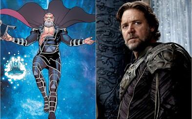 Russell Crowe si v Thor: Love & Thunder zahrá Zeusa. Herec to zrejme nechtiac prezradil v rádiu