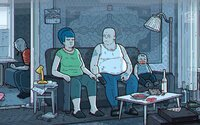 Ruští Simpsonovi: Otec alkoholik bije svou vulgární ženu a policie šikanuje obyvatele