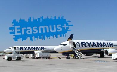 Ryanair bude poskytovať zľavy študentom na Erasme! Batožinou úplne zadarmo či zvýhodnenými letenkami chce projekt ešte viac podporiť