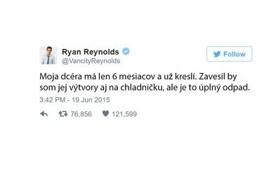 Ryanovi Reynoldsovi skrátka Twitter leží pri nohách. Jeho vtipné odkazy a ironický humor vedia spríjemniť deň každému fanúšikovi