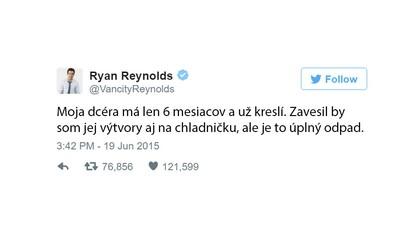 Ryanu Reynoldsovi Twitter leží u nohou. Jeho vtipné vzkazy a ironický humor dokáží zpříjemnit den každému fanouškovi