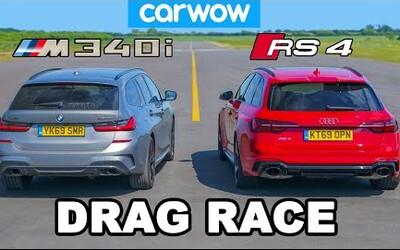 Rychlostní souboj BMW M340 a Audi RS4 přinesl nečekaně vyrovnaný výsledek