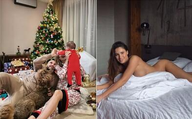 Rytmus v kruhu rodiny, Javorčeková nahá na posteli. Ako známi Slováci oslavovali tohtoročné Vianoce?