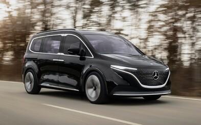 S elektrickými modelmi EQ značky Mercedes-Benz sa trhá vrece. Toto je predobraz rodinného vanu EQT