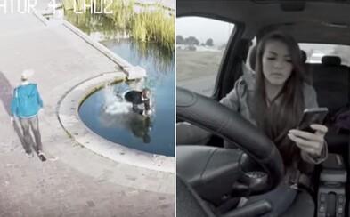 S mobilom nevieš ani chodiť, nieto ešte šoférovať. Emocionálna reklama ťa presvedčí, že telefón za volant nepatrí