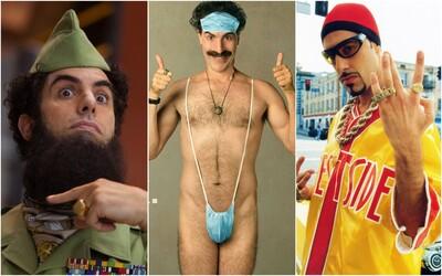 Sacha Cohen stvoril Ali G-ho a Borata, pri niektorých filmoch nosil nepriestrelnú vestu. Toto mu manželka pašovala v nohavičkách