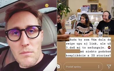 Sajfa či mnohí ďalší slovenskí influenceri majú problém s Instagramom. Nefunguje im funkcia Swipe Up