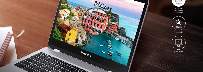 """Samsung představí nový Chromebook Pro se stylusem, 12"""" dotykovým displejem a 10hodinovou výdrží"""