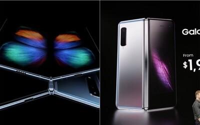 Samsung představil první skládací telefon. Stojí 45 tisíc korun, má 6 kamer a 12 GB RAM