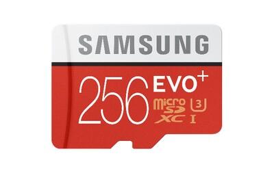Samsung predstavil rýchlu 256 GB microSD kartu. Zvládne uložiť až 12 hodín 4K videa