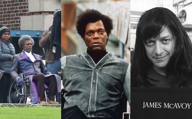 Samuel L. Jackson a James McAvoy už poctivo zarezávajú na natáčaní thrilleru Glass. Vychutnajte si niekoľko úplne prvých fotiek