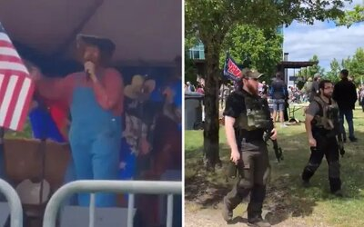 Sasha Baron Cohen sa infiltroval do partie amerických rasistov. Obamu treba infikovať Wuhanskou chrípkou, spieval s nimi