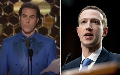Sasha Baron Cohen znova útočí na Marka Zuckerberga. Je vraj pomýlené dieťa, čo šíri nacistickú propagandu