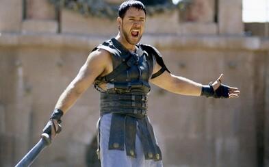 Scénář pro oscarového Gladiátora byl příšerný, vzpomíná herec Russell Crowe. Co ho přesvědčilo roli přijmout?