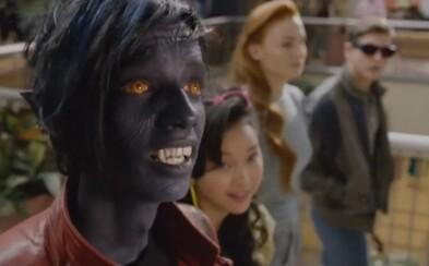 Scott, Jean, Nightcrawler a Jubilee si užívajú zábavu v nákupnom centre vo vystrihnutej scéne z X-Men: Apocalypse