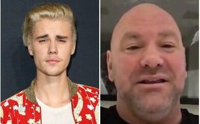 Šéf UFC Dana White chce zápas Justina Biebera a Toma Cruisea. Z tajných zdrojov vie, že je stále reálny