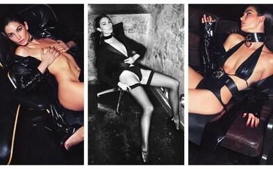 Sen většiny mužů přenesen do reality aneb téměř zcela odhalený andílek Victoria's Secret na lechtivých záběrech