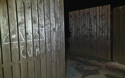 Seniorka kreslila čuníky na policejní vrata. Zřejmě se mstila za odvoz na záchytku
