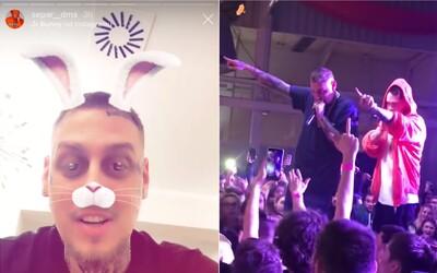 Separ přerušil koncert, aby seřval fanouška, který fyzicky ubližoval ženě. Dostal i pár facek