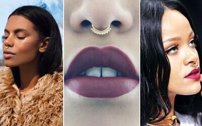 Septum piercing: Stylový šperk v nose, který vytvoří zcela jedinečnou vizáž