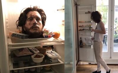 Seriálový Jon Snow na smrť vystrašil snúbenicu Rose Leslie. V chladničke jej nechal svoju mŕtvu hlavu