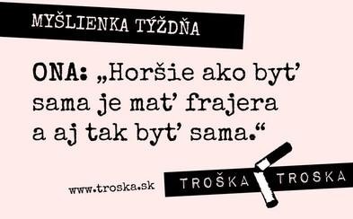 """Servítku pred ústa si nedávajú. Autori myšlienok """"Troška Troska"""" bavia na Facebooku mnohých Slovákov"""