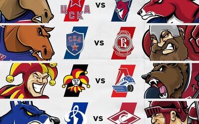 Šestnáct týmů, jeden vítěz! Který Čech nebo Slovák se stane vítězem KHL?