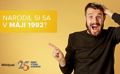 Si narodený v máji 1992? Whirlpool má pre teba ideálny darček!