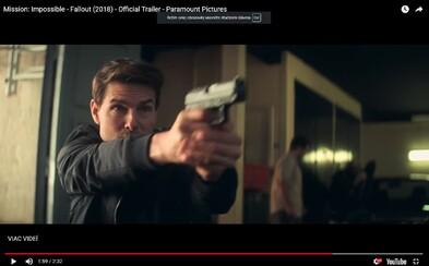 Šílená akce, úžasná atmosféra a skvělý Tom Cruise jako Ethan Hunt. Sledujte debutový trailer pro Mission: Impossible - Fallout