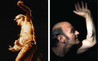 Šialenec alebo génius? Umelec si nechal do ruky vsadiť tretie ucho a počas vystúpení necháva svoje nahé telo visieť na hákoch