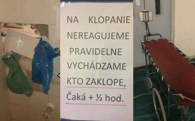 Síce vtipné, ale predovšetkým na zaplakanie. Slovenské zdravotníctvo dostáva na frak od ľudí na internete, ktorí zdieľajú najhoršie zážitky