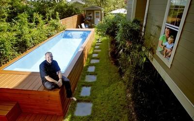Šikovný architekt dokázal přetvořit starý odpadkový kontejner na nádherný rodinný bazén