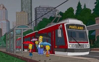 Simpsonovi se v poslední řadě svezli českou tramvají