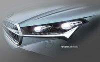 Škoda ukázala svetlá pripravovaného elektromobilu. Enyaq iV opäť vsadí na český kryštál