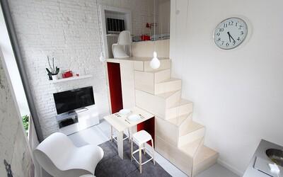 Skvělé studentské bydlení v centru Prahy na 16 čtverečních metrech vzniklo z úklidové místnosti
