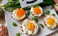 Skvelé vajíčka v batátových košíčkoch poslúžia ako chutné hlavné jedlo či slaný dezert (Recept)