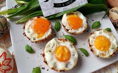 Skvělá vajíčka v batátových košíčcích poslouží jako chutné hlavní jídlo či slaný dezert (Recept)