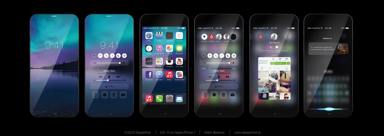 Skvělý koncept iPhonu 7 nestačil. Prohlédněte si na něm vizi nadcházejícího operačního systému