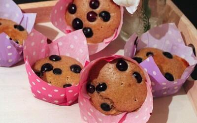 Sladučké čučoriedkové muffiny (recept)