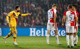 Slavia se nebála, přesto prohrála s Barcelonou 1:2