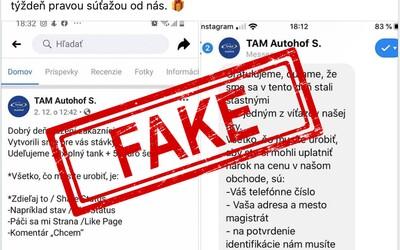 Slováci opäť naleteli na falošnú súťaž. Na Facebooku sa objavila podvodná stránka ponúkajúca tankovanie zdarma