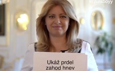 Slováci sa zabávajú na ďakovnom príspevku Zuzany Čaputovej. Papierové hárky odkrývajú Rytmusov text či Plačkovej súťaž