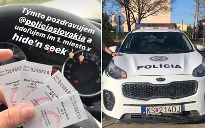 Slovák dostal pokutu za nerozvážně chování na Instagramu. Za jízdy si vyfotil pokutové bločky a označil profil policie