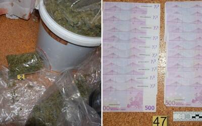 Slovák měl doma 7 tisíc dávek marihuany, stovky tablet extáze, heroin i kokain. Drogový kontraband za milion korun mu zabavila policie