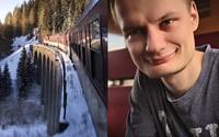 Slovák precestoval všetky železničné trate v našej krajine. Kvôli fotkám mrzol aj v -25 °C mrazoch