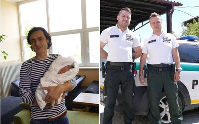 Slovák prekročil rýchlosť, keď sa ponáhľal so svojou tehotnou manželkou do nemocnice. Namiesto pokuty mu policajti urobili sprievod