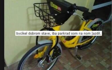 Slovák už na Bazoši skúšal predať Slovnaft BAjk z bratislavského bikesharingu. Našiel ho odhodený na ulici